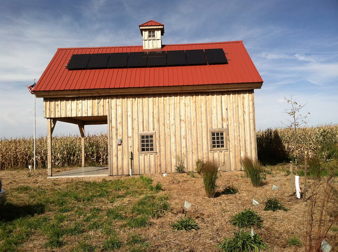 Clean energy barn in the path of the Keystone XL pipeline