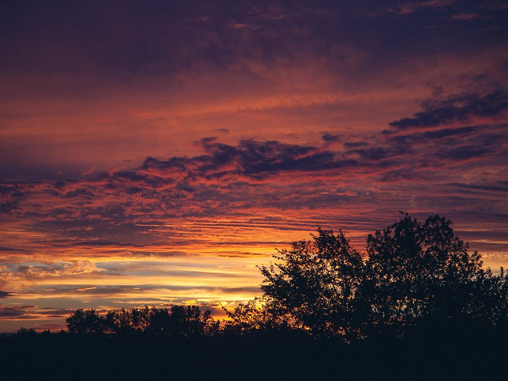Sunset in Melrose, Nebraska