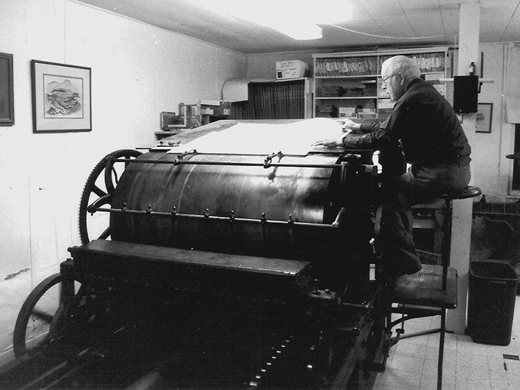 Norris Alfred at his press