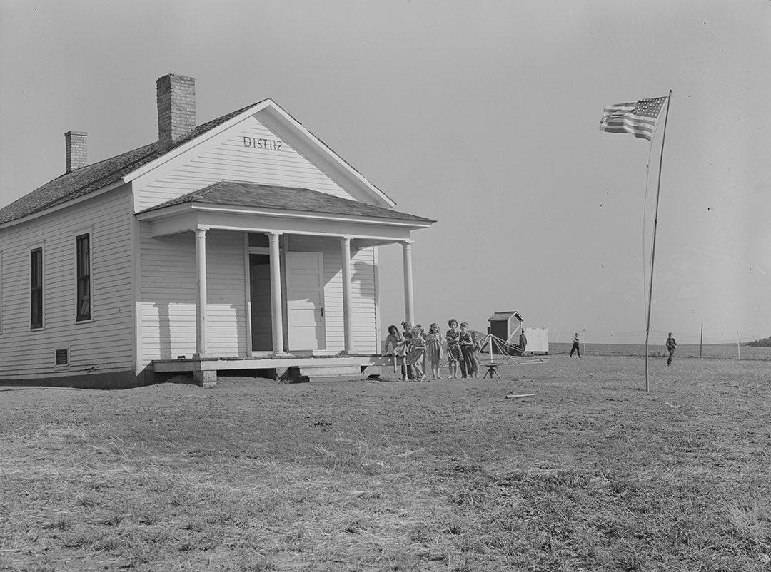 One-room schoolhouse in Seward County, Nebraska