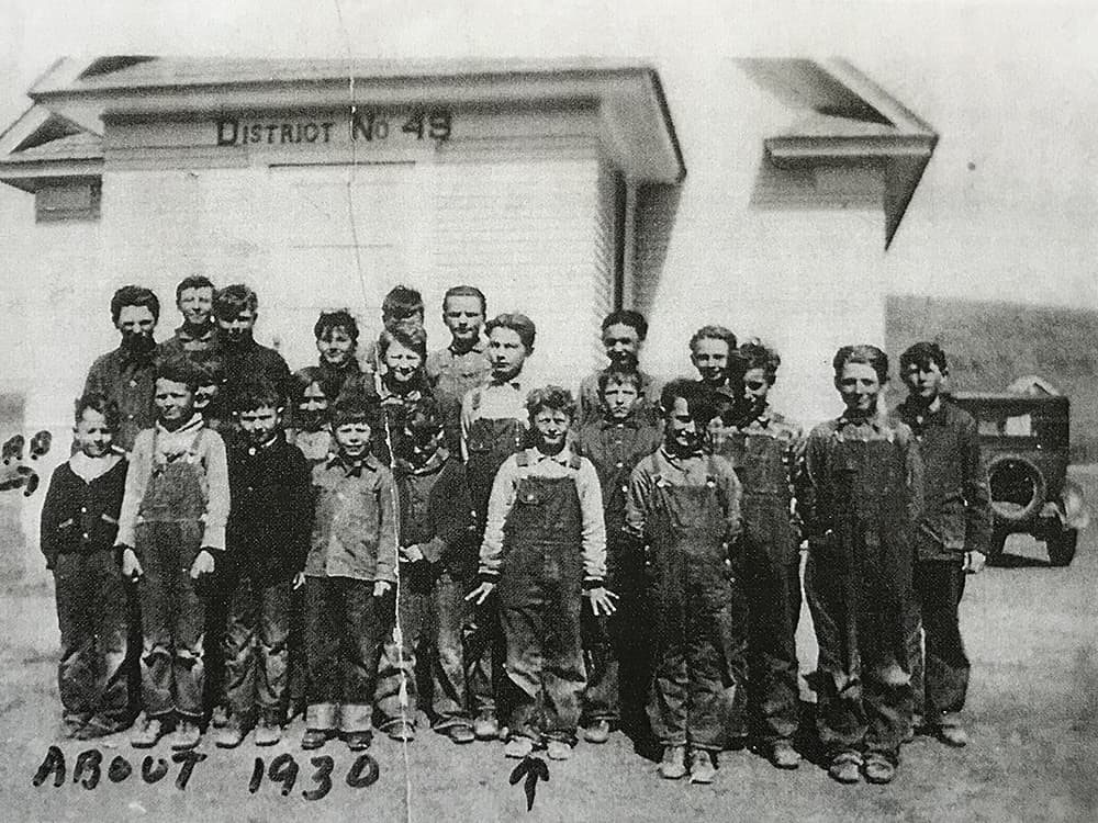 District 49 School Group, 1930s Nebraska