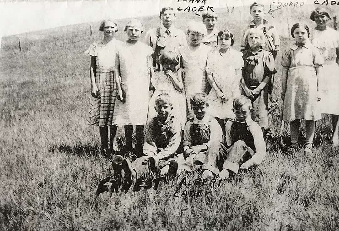 End of school picnic photo, May 1936